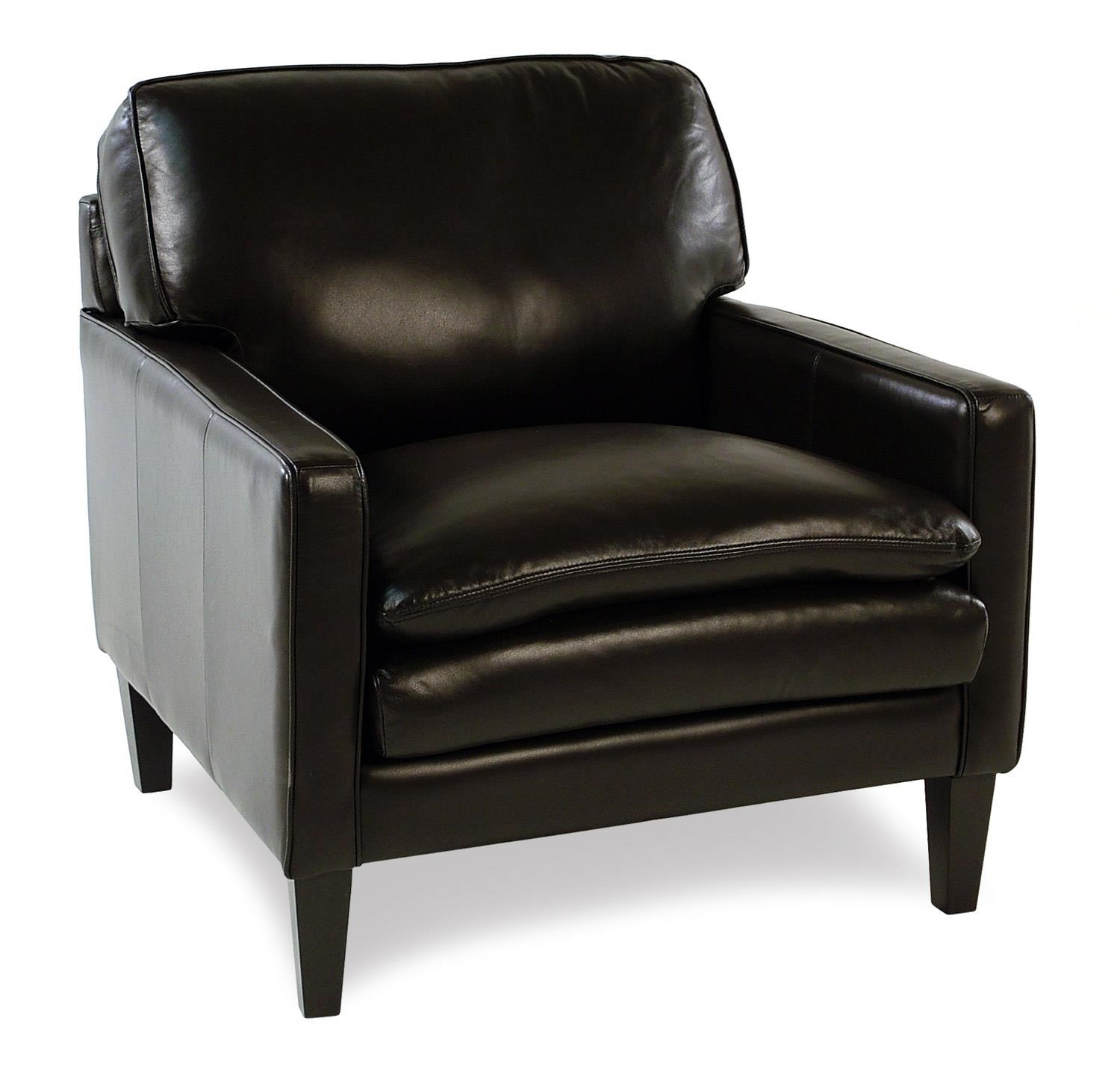 Decor-Rest Lorenzo Leather Chair w/ Tapered Legs - Item Number: 3565C-ESPRESSO