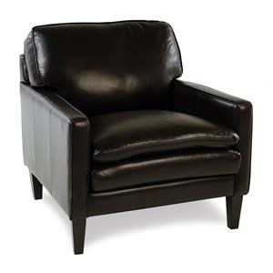 Decor-Rest Lorenzo Leather Chair w/ Tapered Legs