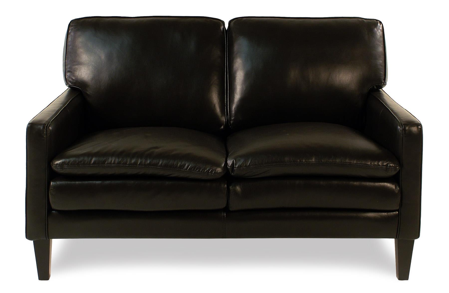 Decor-Rest Lorenzo Leather Loveseat w/ Tapered Legs - Item Number: 3565LS-ESPRESSO