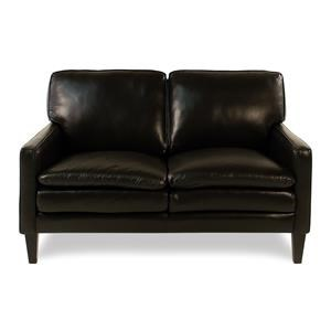 Decor-Rest Lorenzo Leather Loveseat w/ Tapered Legs