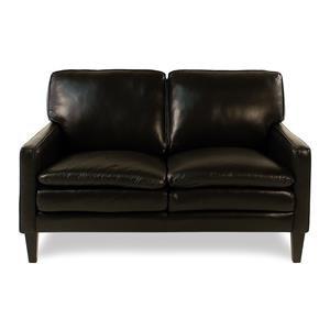 Decor-Rest Lorenzo Leather Loveseat w/ Tapered Legs