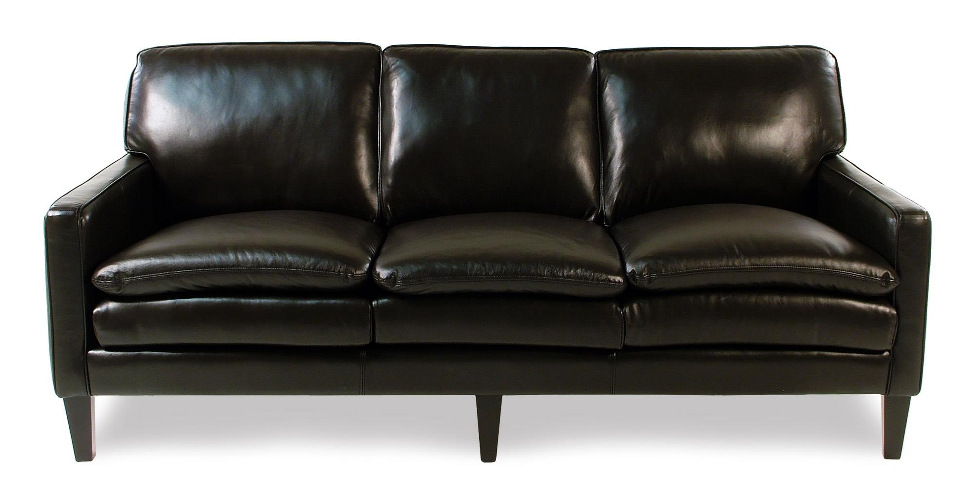 Decor-Rest Lorenzo Leather Sofa w/ Tapered Legs - Item Number: 3565S-ESPRESSO