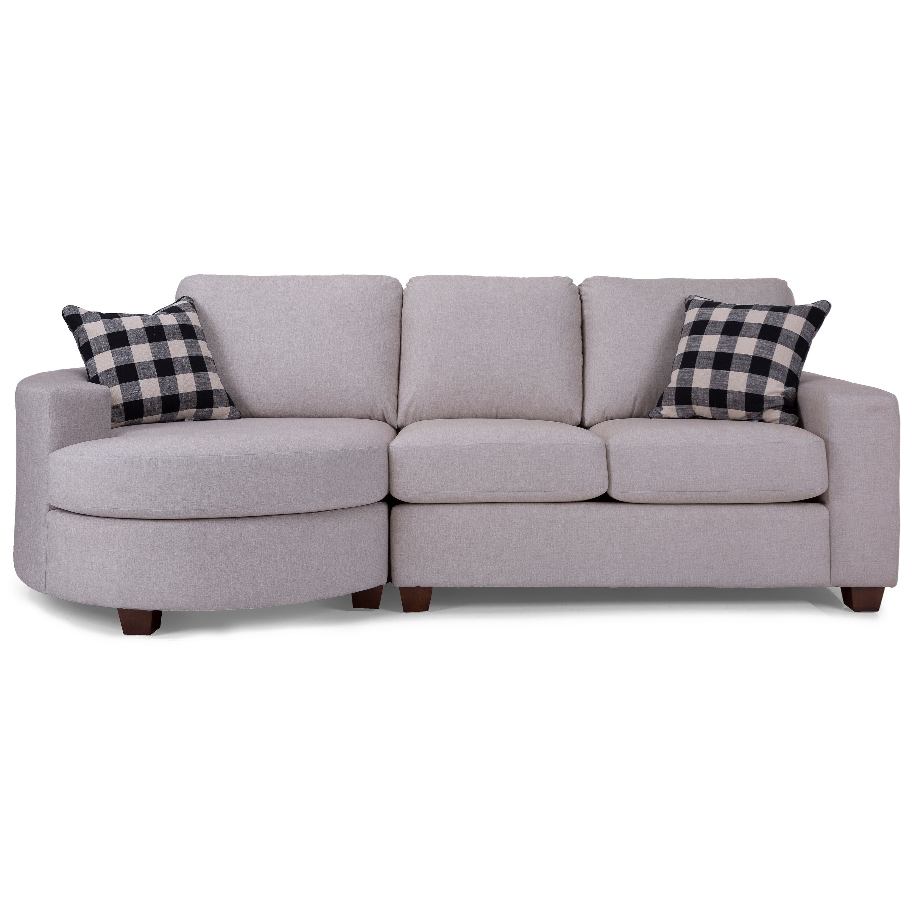 Alessandra Connections Sofa with Bumper by Decor-Rest at Johnny Janosik