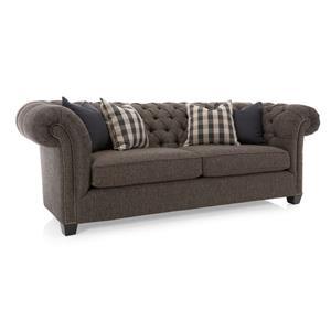 Tuxedo Sofa with Button Tufting