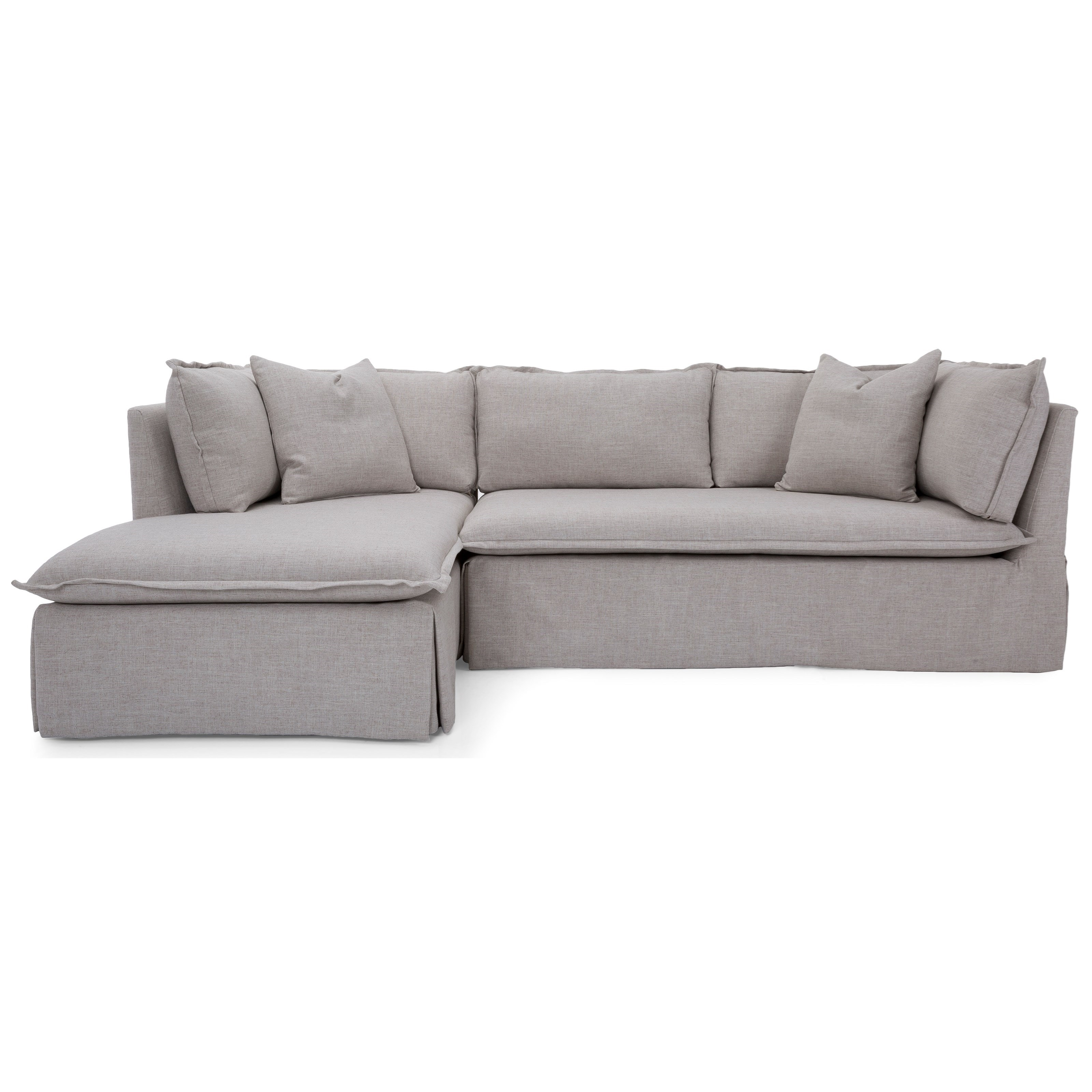 7075 Sofa with Chaise by Taelor Designs at Bennett's Furniture and Mattresses