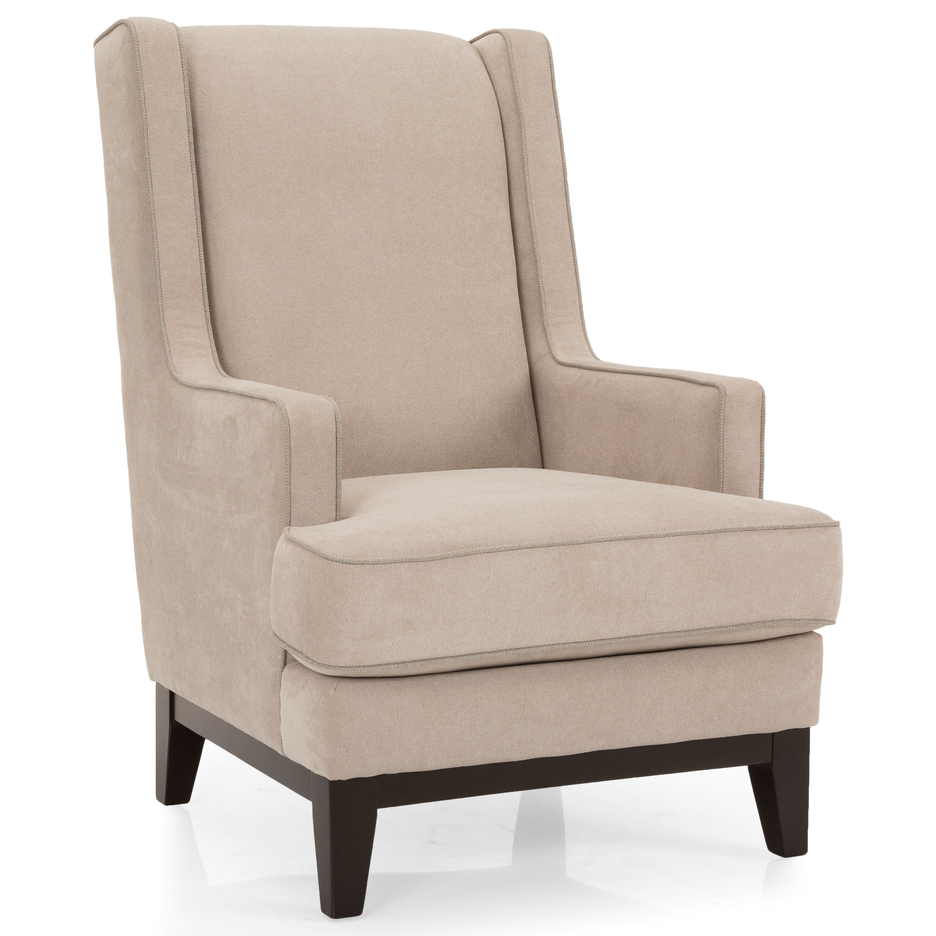 Decor-Rest Flynn by S&C Wing Chair - Item Number: 7718 Chair-Abriana Sand w Contrast
