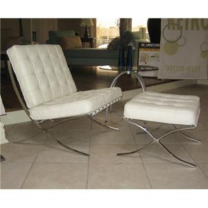 Taelor Designs Accent on Home Chairs Barcelona Chair and Ottoman