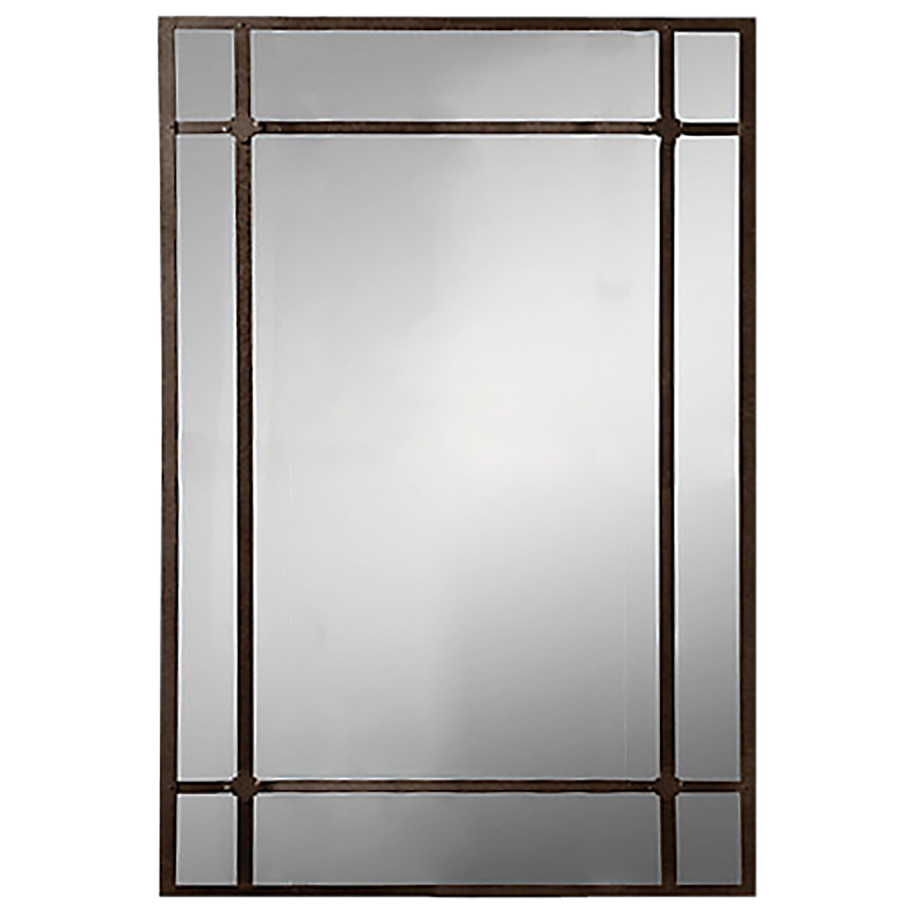 Decor Rest Accent On Home Mirrors Bologna Antiqued Metal