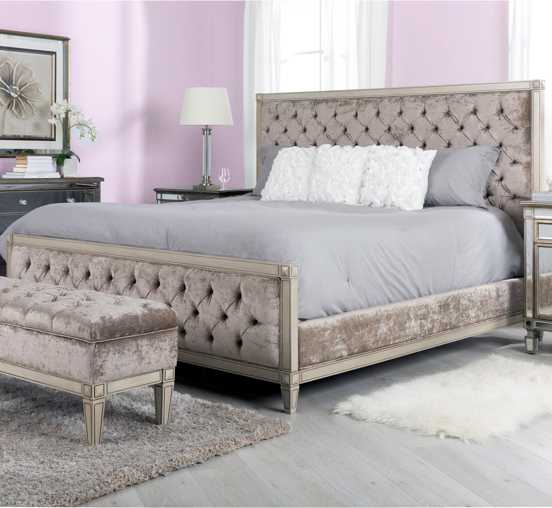 Decor-Rest Angelina King Upholstered Bed - Item Number: HBF236K