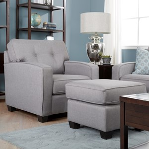 Taelor Designs 2298 Series Chair and Ottoman Set