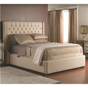 Decor-Rest Beds -  Queen Fabric Headboard and Base