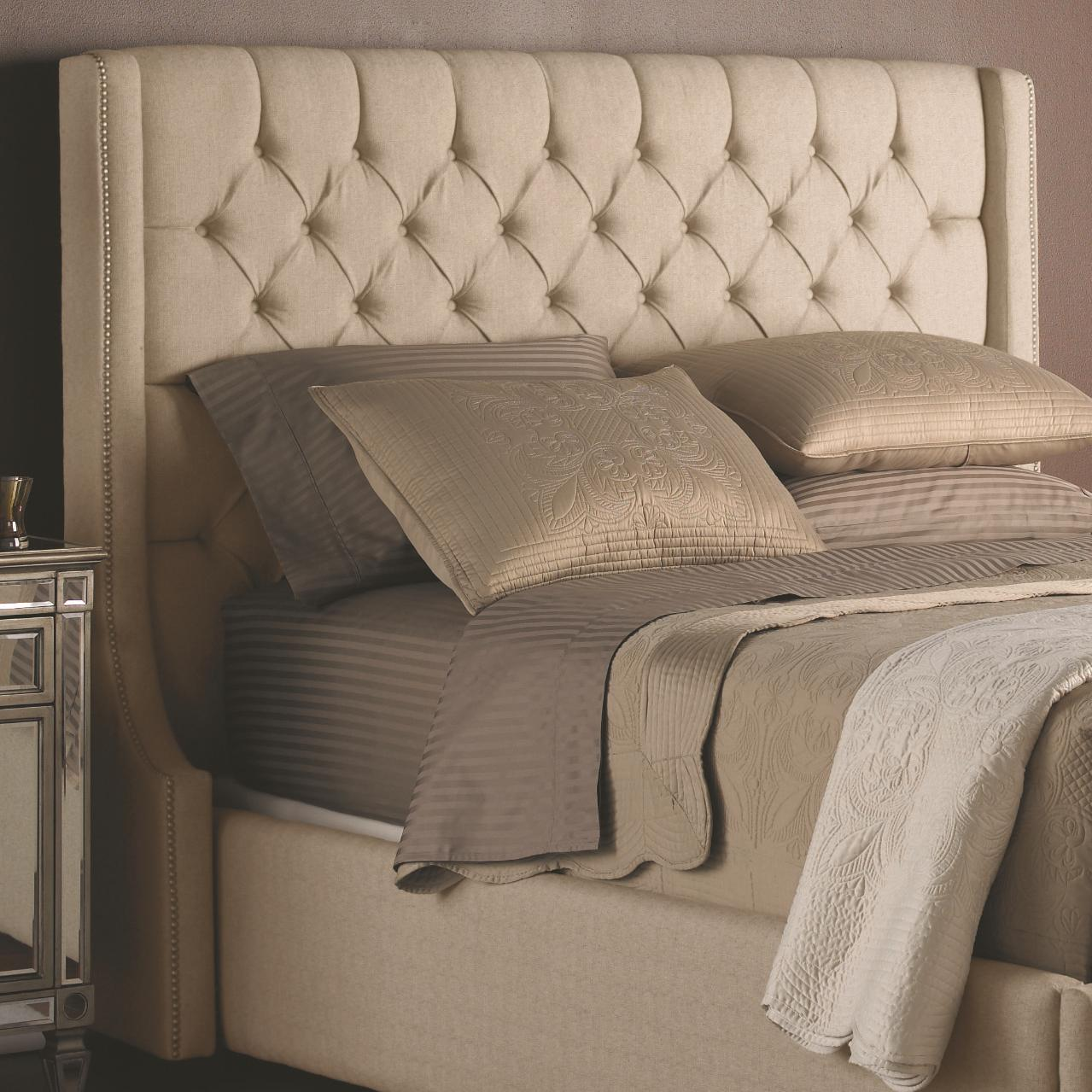 Beds -  King Fabric Headboard by Decor-Rest at Stoney Creek Furniture