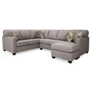 Decor-Rest Mariko 2PC Sectional Sofa w/ Chaise