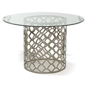 Decor-Rest Quartrefoil Round Dining Table