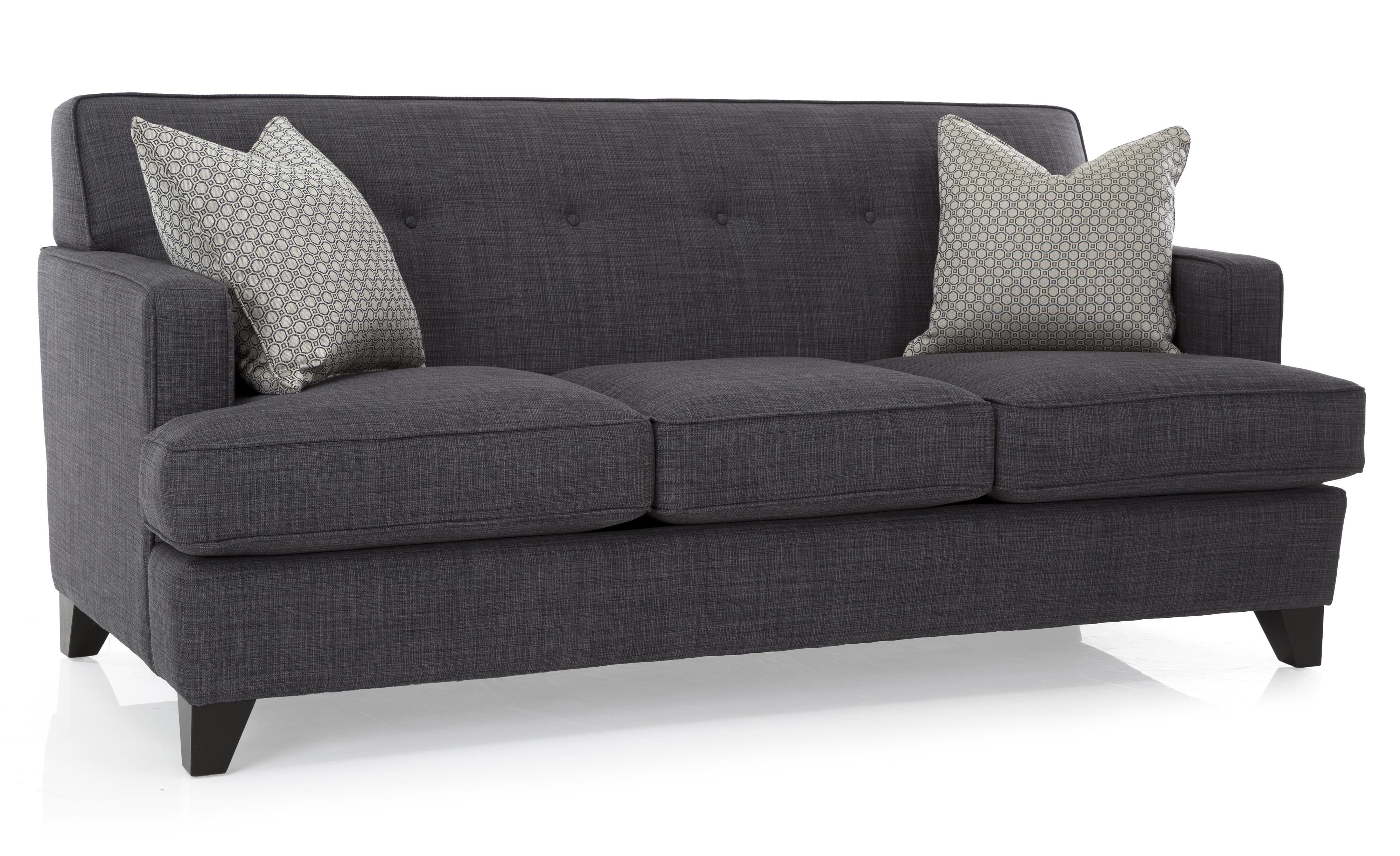 Decor-Rest 2532 Sofa - Item Number: 2532-Sofa-Dark-Grey-Solid