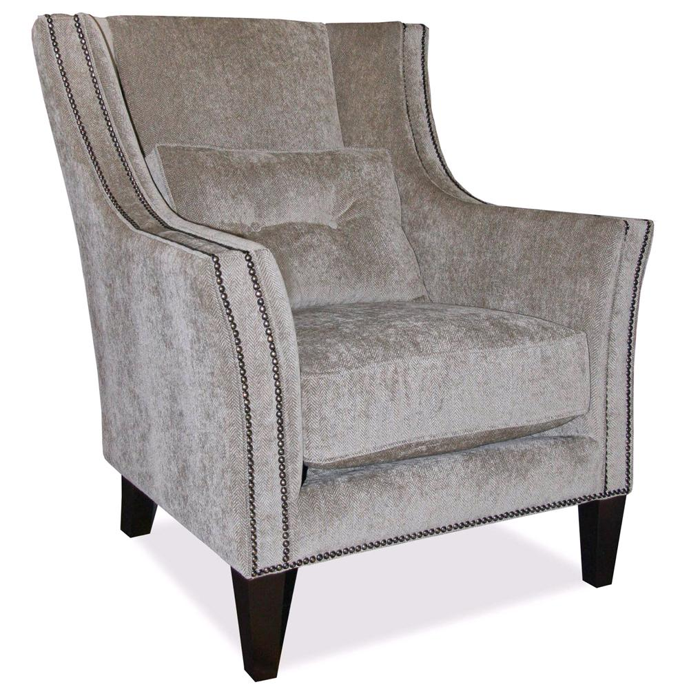 Decor Rest Upholstered Accents Track Arm Chair   Item Number: 2825