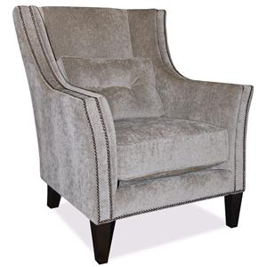 Taelor Designs Upholstered Accents Track Arm Chair