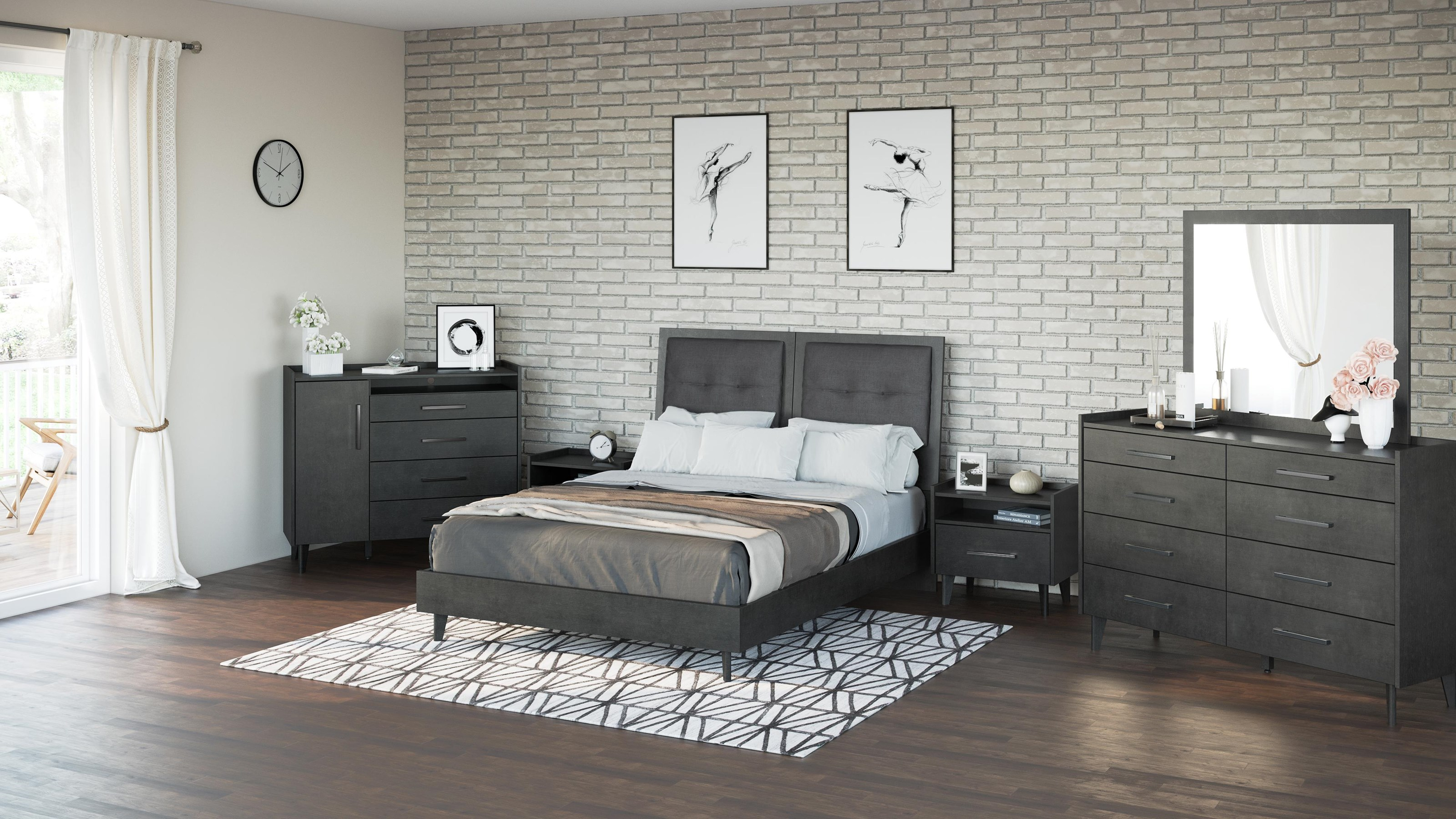 406 4 PC Biltmore Bedroom- Queen Bed, Dre by Defehr at Stoney Creek Furniture
