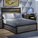 Defehr 538 Full Platform Bed with 4 Storage Drawers - Bed Shown May Not Represent Size Indicated