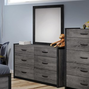Defehr 538 Dresser and Mirror Set