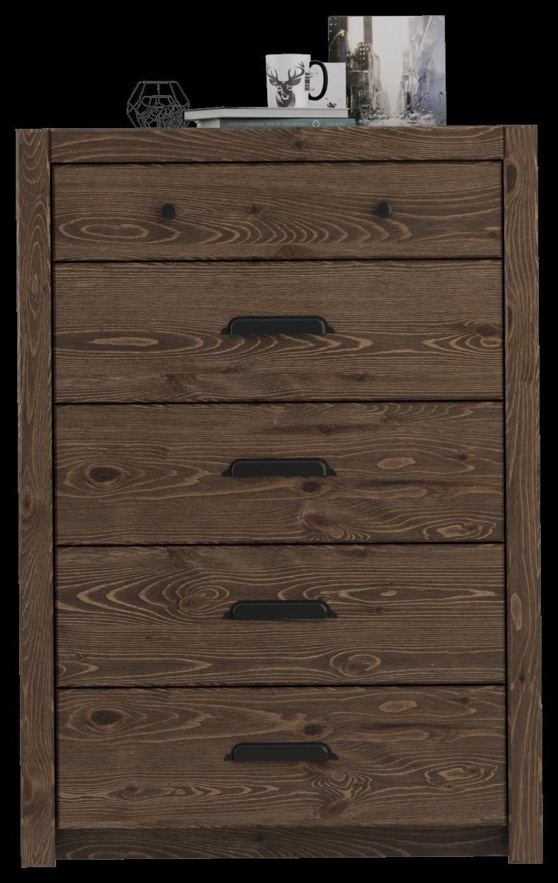 Chest, 6 Drawer (1 hidden)
