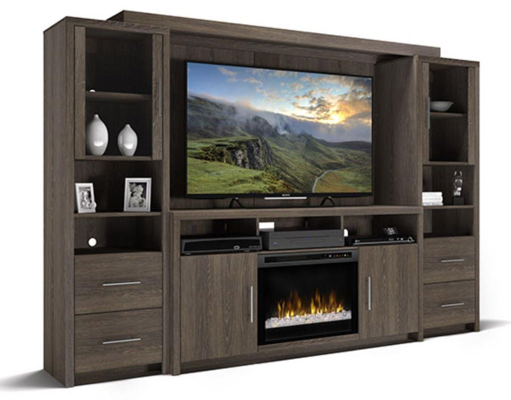 5 PC CHERITON ENT W/FIREPLACE