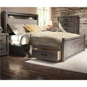 Defehr Series 697 Queen Rustic Panel Storage Bed
