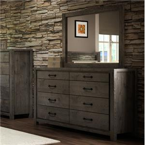 Defehr Series 697 Dresser and Mirror Set