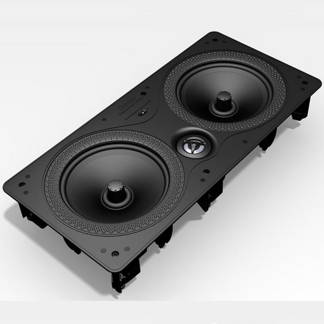 "Definitive Technology Disappearing In-Wall Series Dual 6-1/2"" Disappearing In-Wall Speaker - Item Number: DI 6.5LCR"