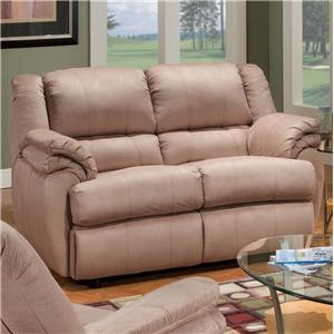 Ashford Reclining Loveseat with Double Padding by Delancey Street