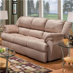 Ashford Reclining Sofa with Double Padding by Delancey Street