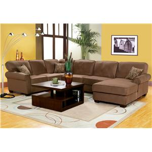 Big Sur Large, Six Person Sectional Sofa with Built in Sleeper Sofa by Delancey Street