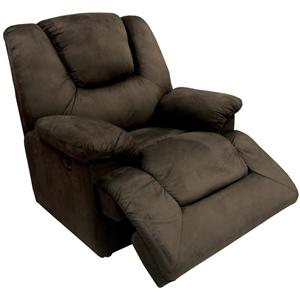 Dell Rocker Recliner with Pillow Arms by Delancey Street
