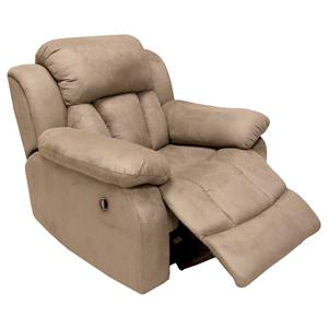 Jasper  Plump Padded Rocker Recliner with Casual Furniture Style by Delancey Street