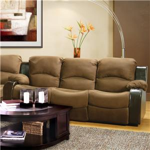 Lansing  Comfortable Reclining Sofa with Built-In Cup Holders by Delancey Street