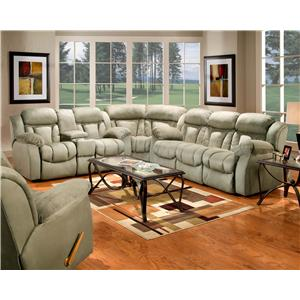 Mandalay 3 Piece Sectional Reclining Sofa by Delancey Street