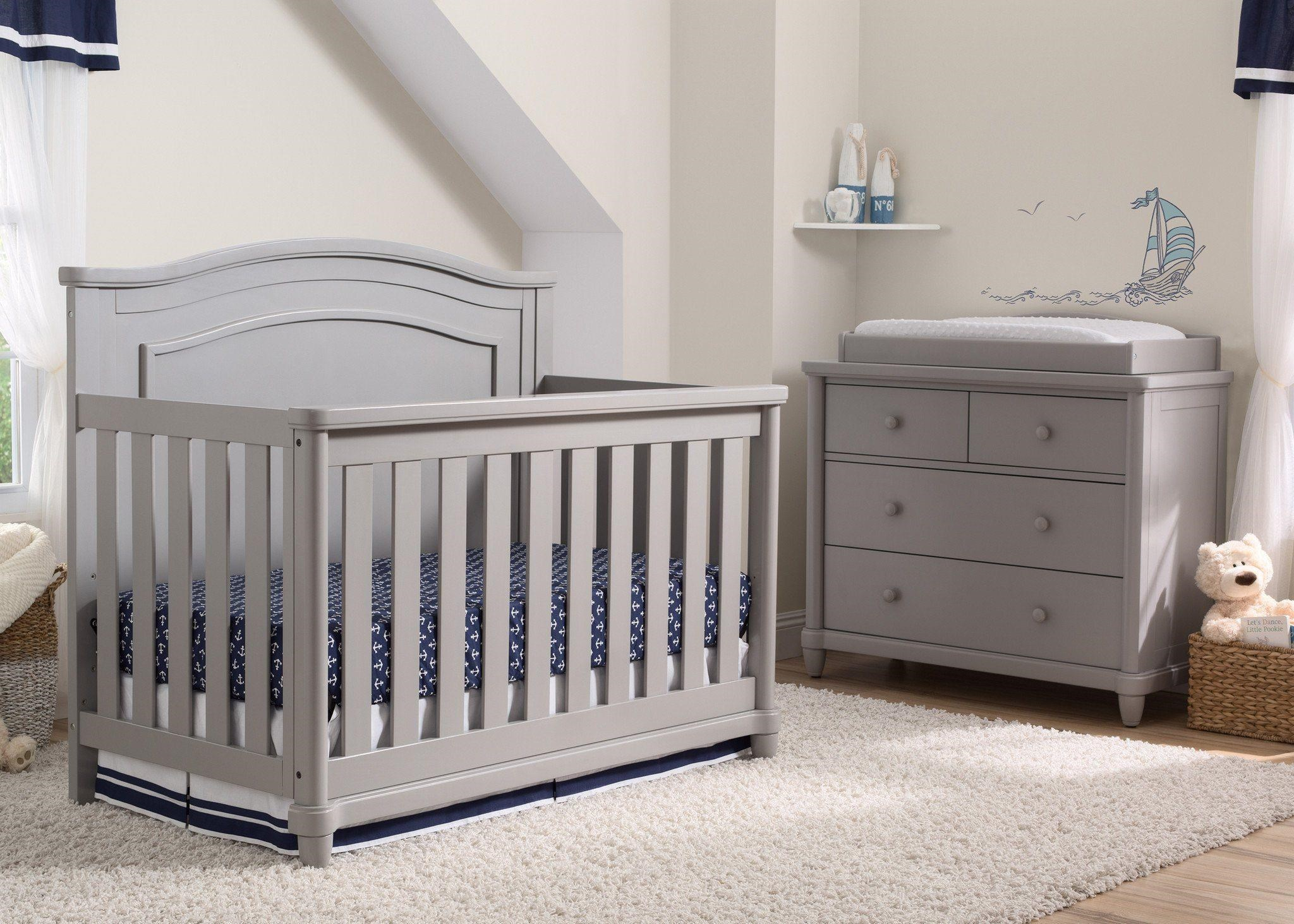 Merveilleux Delta Childrenu0027s Products Delta Cribs Brookside Dresser/Changing Table In  Grey   Item Number: