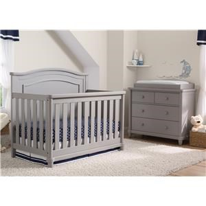 Brookside Crib in Grey