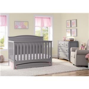 Delta Children's Products Delta Cribs Kenton Crib in Grey