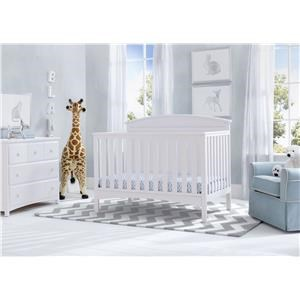 Laurel Crib in White