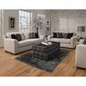 Delta Furniture Manufacturing 4100 Living Room Group - Item Number: 4100 Living Room Group 1