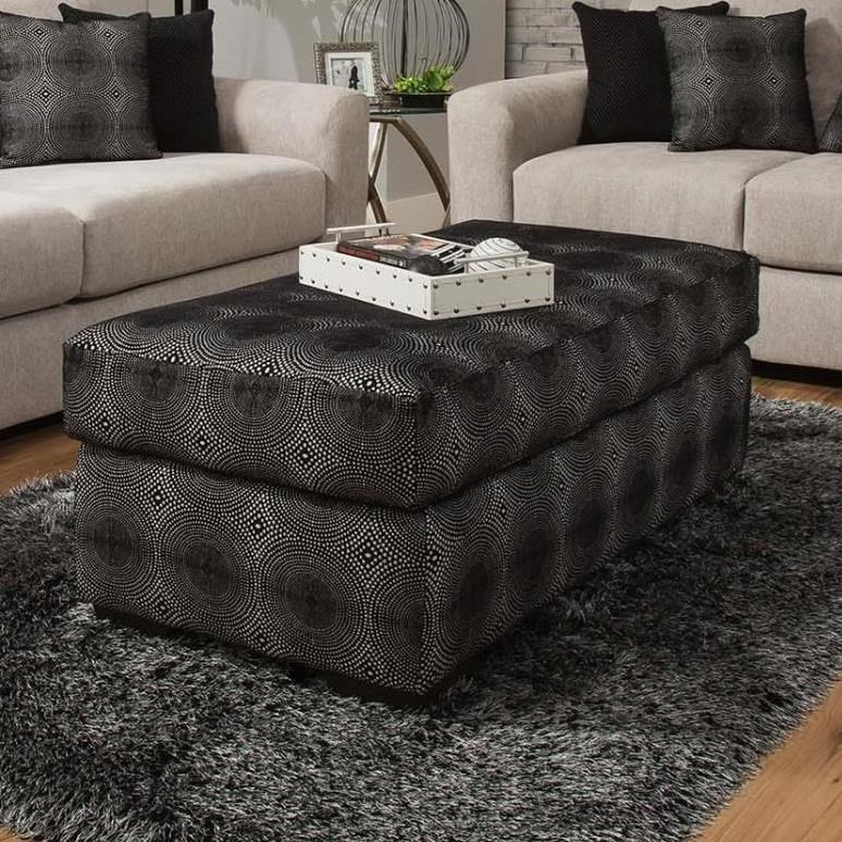 Delta Furniture Manufacturing 4100 Cocktail Ottoman - Item Number: 4100-06O