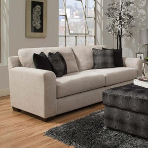 Transitional Sofa With 4 Pillows