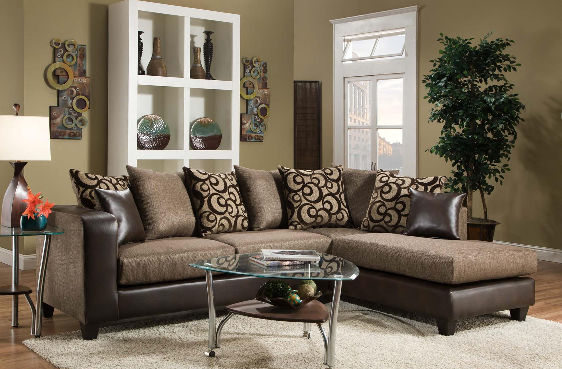 4124 Sectional Sofa by Delta Furniture Manufacturing at Dream Home Interiors