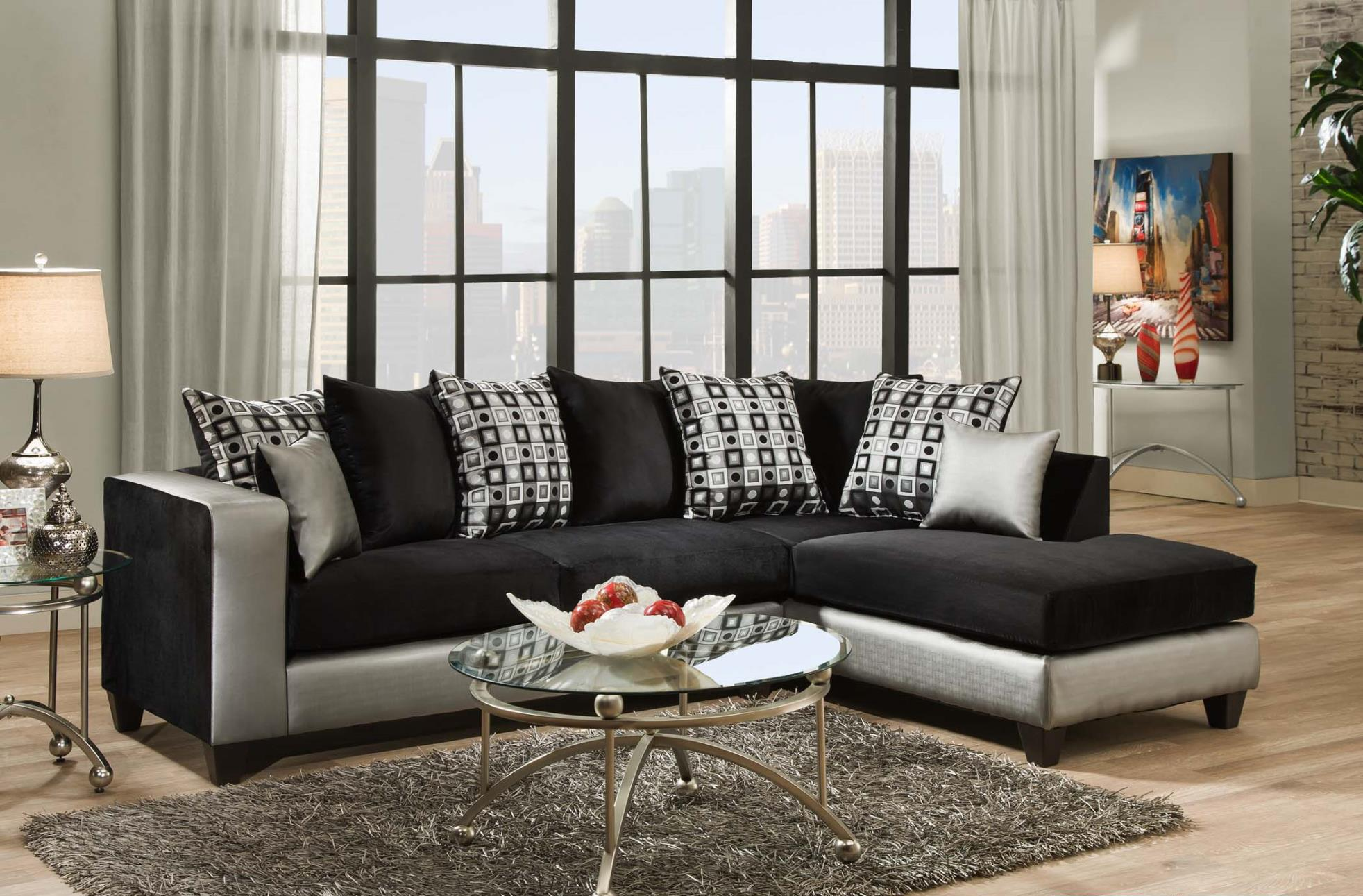 Del Sol Exclusive 4124 Sectional Sofa - Item Number: 4124-06S+06L