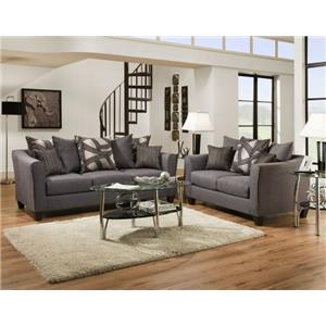 Del Sol Exclusive Astro Midnight Sofa & Love seat