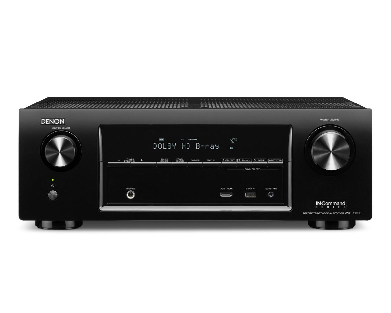 Denon AV Receivers 5.1 Channel AV Home Theater Receiver - Item Number: AVR-X1000