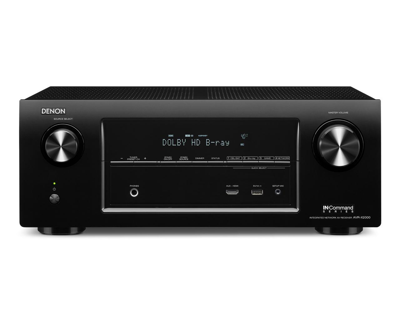 Denon AV Receivers 7.1 Channel Network AV Receiver - Item Number: AVR-X2000