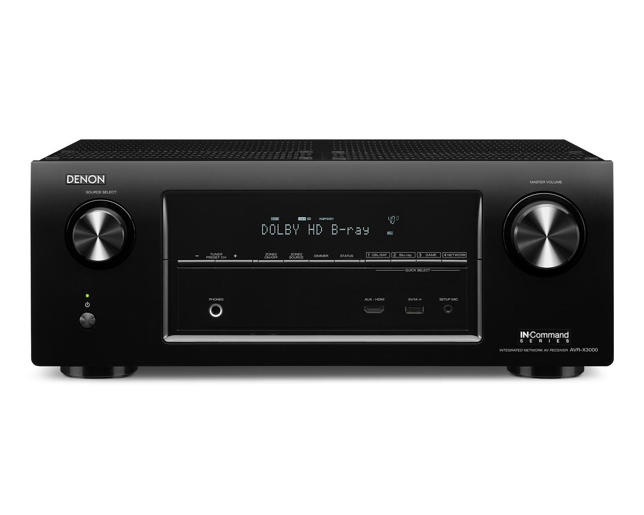 Denon AV Receivers 7.2 Network Home Theater AV Receiver - Item Number: AVR-X3000