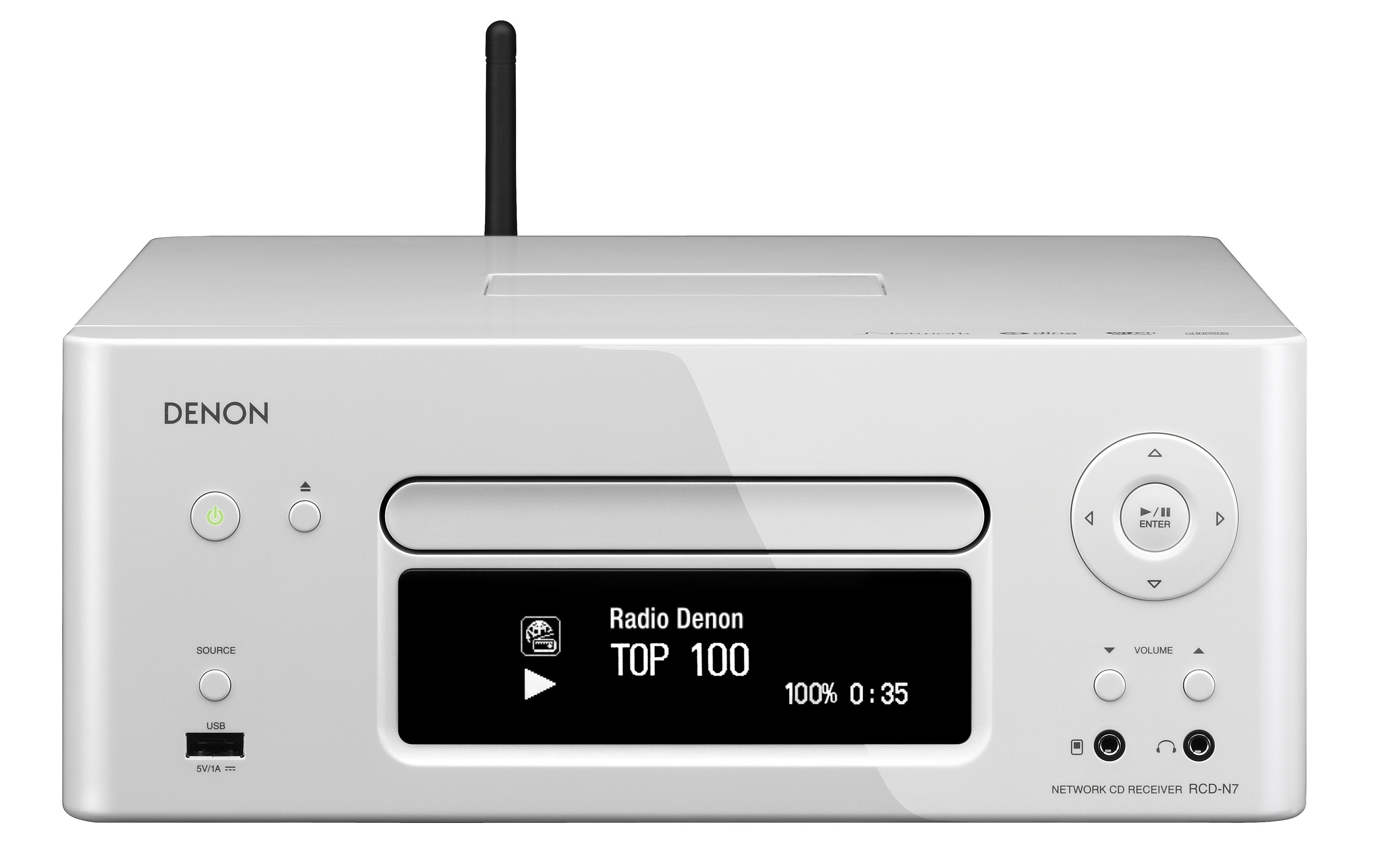 Denon AV Receivers 2.0 Channel Network Receiver - Item Number: RCD-N7